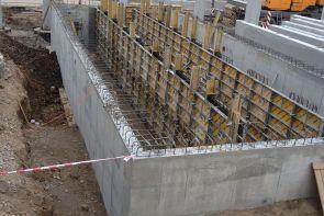 Železobetonové konstrukce - Lanškroun - Retenční nádrž